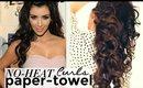 "★ NO-HEAT KIM KARDASHIAN CURLS with ""Paper-Towels"" | CUTE HAIRSTYLES"