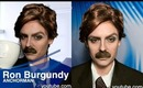 Anchorman 2 official trailer - Ron Burgundy Makeup Tutorial Transformation (Halloween Makeup)