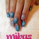 Blue, glitter & rhinestones!