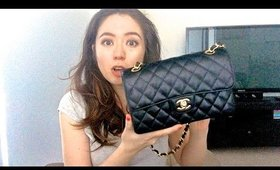 Chanel Classic Flap Bag -  Whats in my handbag - Review | Anne Baxter
