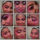 """Pink Panther Design."" w/ pink lashes, fuscia lips. 'xoxo"