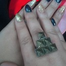 Navy, nude and gold!
