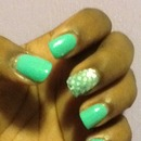 Mint Green and Mirror Spheres