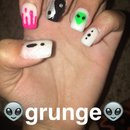 """My take on a """"tumblr"""" nail look"""