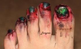 Zombie Toenails for Halloween