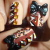 Fall Blocking Japanese Hime 3D Bow Nail Art