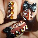 Fall Blocking Japanese Hime 3D Bow Nail Art