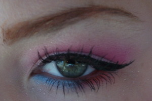 tropicalish look with 120 palette, that red is actually neon orange