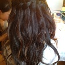 Waterfall braid and curlz