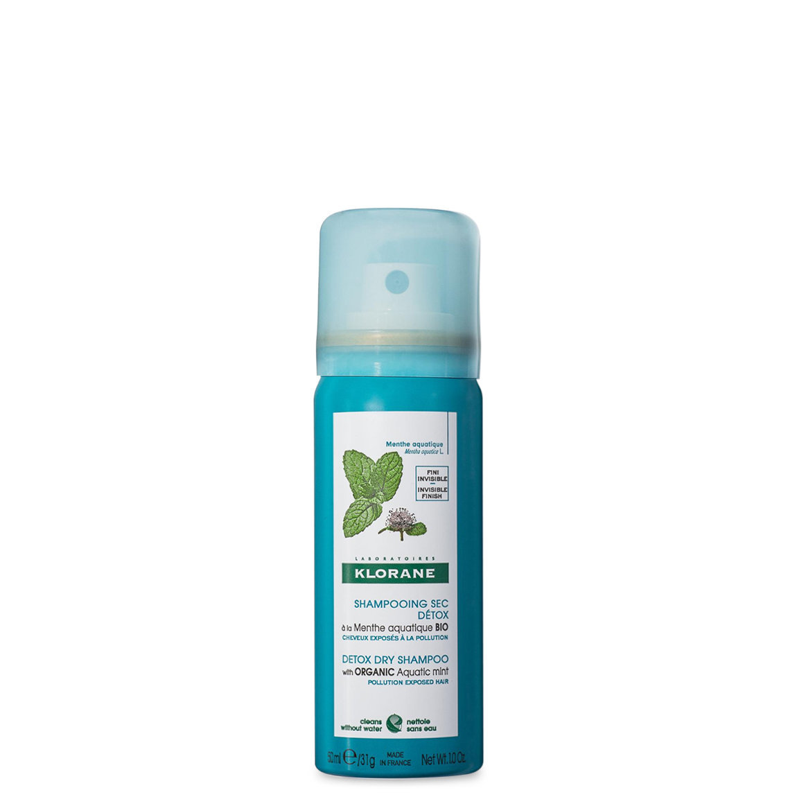Klorane Detox Dry Shampoo with Aquatic Mint 1.0 oz alternative view 1 - product swatch.