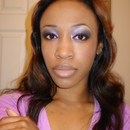 Purple & Black smokey eye