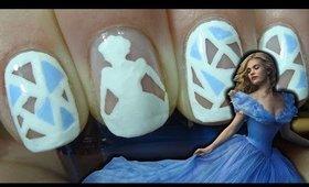 Cinderella nail art design ♥ Cinderella Disney movie 2015 Nail Art