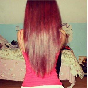 last years hair color when my hair was long and healthy