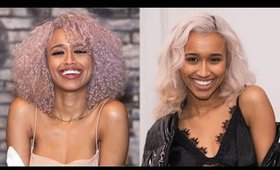 HOW TO GET SILVER HAIR WITHOUT DYEING IT! HOW I GET SILVER/ GRAY HAIR (ASHY LILAC FADES TO SILVER)