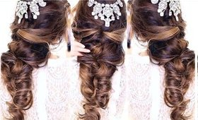 EASY CrissCross Half UPDO HAIRSTYLE ★ Wedding Homecoming Hairstyles   MakeupWearables