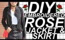 DIY ROSE PATCH JACKET AND SKIRT SET | festival month