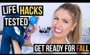 FALL LIFE HACKS TESTED, HAUL, & ESSENTIALS! || Getting Ready for FALL!