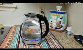 HadinEEon Electric Kettle 1.7L Glass 30 seconds boiling