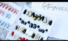 PRESS ON NAIL HAUL FROM THE UK 💅 Reusable Trendy Press On Nails