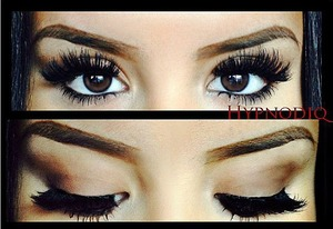 Eyelashes are from Sally's Beauty Supply.