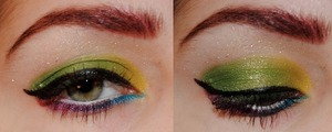 """This is another """"if I was an alien..."""" style look. Also, colored brows! Yay!"""