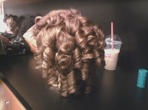 My Shirley Temple inspired hairstyle