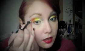 Autumn Inspired Candy Corn Eye Makeup Tutorial - A Halloween Favorite