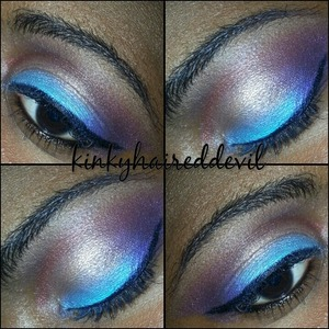look I created using my bh cosmetics 88 cool shimmer palette