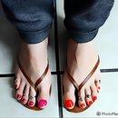 Glitter Orange And Glitter Pink