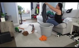 CLEAN WITH ME| Morning Cleaning | REAL LIFE | Momma Drama | Puro Sound Labs Kids Headphones