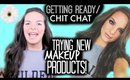 Get Ready With Me / Chit Chat: Trying NEW Products! | Casey Holmes
