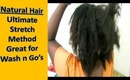 #1 Stretching Natural Hair: Ultimate No Heat Stretch Method (Threading)