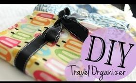 DIY Travel Accessory Makeup Brush Holder Organizer (Sew & NO Sew Method)