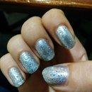 Silver Glitter Nails! <3