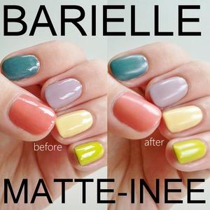review: http://www.beautybykrystal.com/2013/02/barielle-matte-inee-matte-finish.html