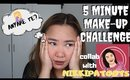 Make up in 5 minutes? Kaya ba? (Make up Challenge collab w/ NIKKIPATOOTS)