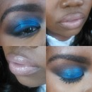 blue eye look and nude pink lip