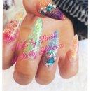 Bright nails...