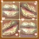 pretty glitter lips