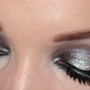 Black And Silver Glitter Smokey Eyes 2