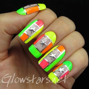 Read the blog post at http://glowstars.net/lacquer-obsession/2015/01/neon-colour-blocking-and-stars/