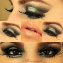 Teal and black eyes