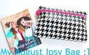 Whats In My August Ipsy Bag