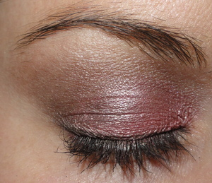 Shimmery Pink and Brown Makeup of the Day