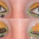 Rainbow makeup when I was 15
