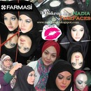 Makeup and Tudung style before shooting for Hijabista Megazine.