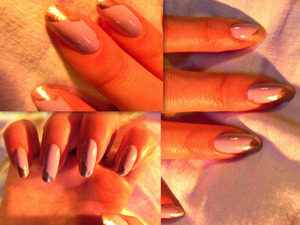 I started with Julie G's Fairytale nail polish and added a diagonal pinky silver tip!
