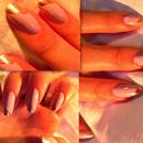 Lavendar Nails with Diagonal Tips