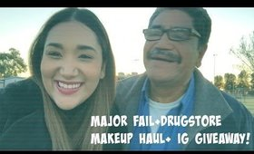 MAJOR FAIL+ DRUGSTORE MAKEUP HAUL+ IG GIVEAWAY // VLOGMAS 2015 // DAY 15-16