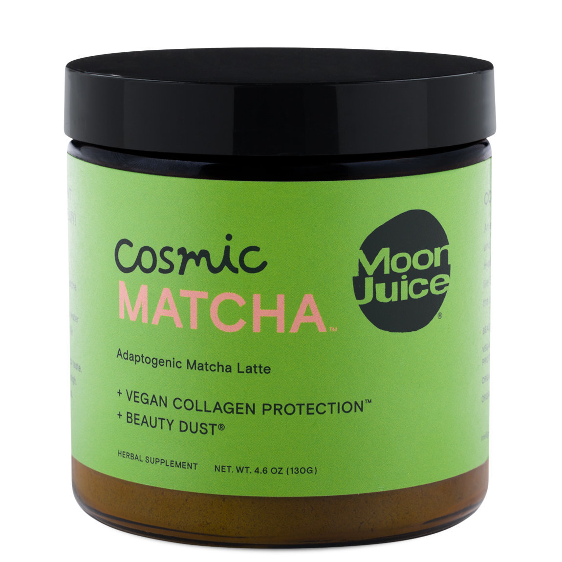Moon Juice Cosmic Matcha product smear.